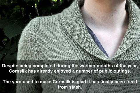 Cornsilk caption