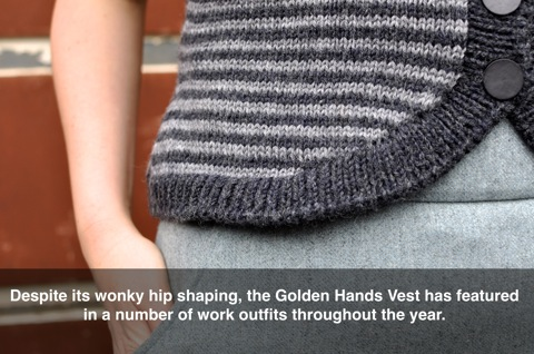 Golden Hands Vest caption